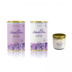амалина пакет за цветно и бяло пране и препарат за петна